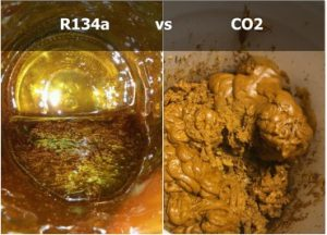 R134a vs CO2 for extraction of botanicals